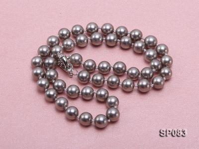 8mm grey round seashell pearl necklace SP083 Image 3