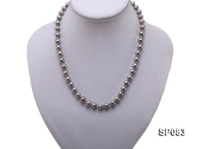 8mm grey round seashell pearl necklace SP083 Image 5
