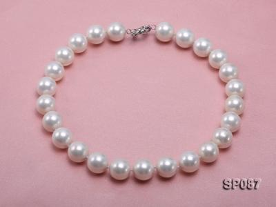 16mm white round seashell pearl necklace SP087 Image 1