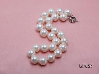 16mm white round seashell pearl necklace SP087 Image 2
