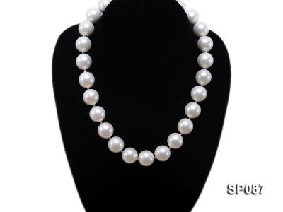 16mm white round seashell pearl necklace SP087 Image 5