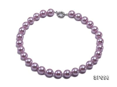 14mm lavender round seashell pearl necklace SP096 Image 1