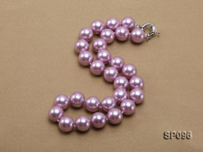 14mm lavender round seashell pearl necklace SP096 Image 2