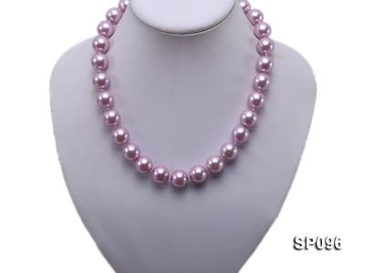 14mm lavender round seashell pearl necklace SP096 Image 5