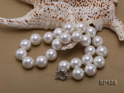 16mm white round seashell pearl necklace SP109 Image 3
