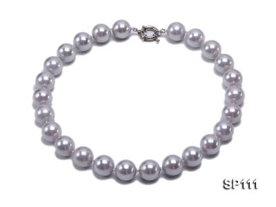 16mm grey round seashell pearl necklace SP111 Image 1