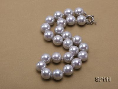 16mm grey round seashell pearl necklace SP111 Image 2