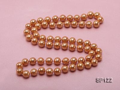 12mm bronze round seashell pearl opera necklace SP122 Image 4