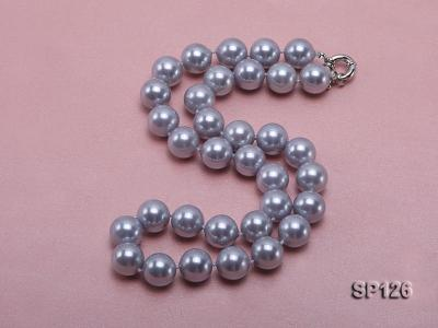 14mm grey round seashell pearl necklace SP126 Image 2
