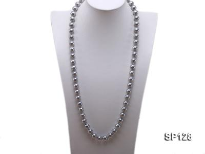 12mm grey round seashell pearl necklace SP128 Image 1