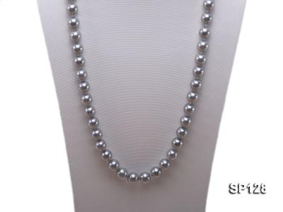 12mm grey round seashell pearl necklace SP128 Image 2