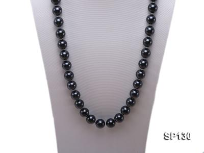 14mm black round seashell pearl necklace SP130 Image 2