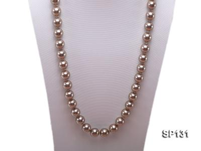 14mm coffee round seashell pearl necklace SP131 Image 2