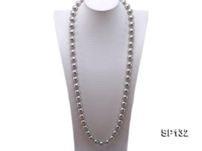 14mm grey round seashell pearl necklace SP132 Image 1