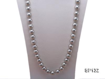 14mm grey round seashell pearl necklace SP132 Image 2