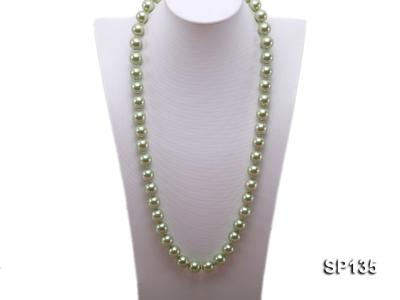 14mm green round seashell pearl necklace SP135 Image 1