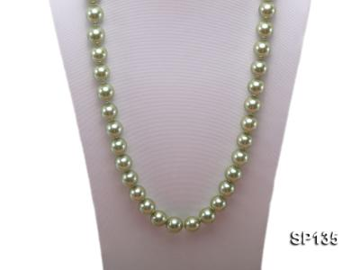14mm green round seashell pearl necklace SP135 Image 2