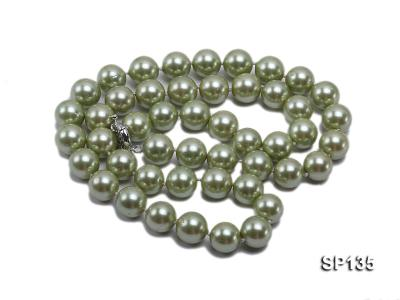 14mm green round seashell pearl necklace SP135 Image 3