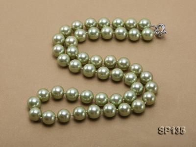 14mm green round seashell pearl necklace SP135 Image 5