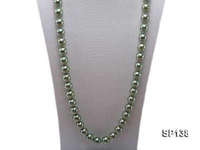 14mm light green round seashell pearl necklace SP138 Image 2