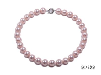 16mm pink round seashell pearl necklace SP139 Image 1