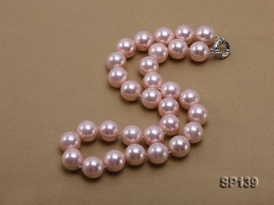 16mm pink round seashell pearl necklace SP139 Image 2