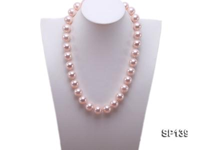 16mm pink round seashell pearl necklace SP139 Image 5
