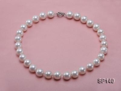 16mm white round seashell pearl necklace SP140 Image 1