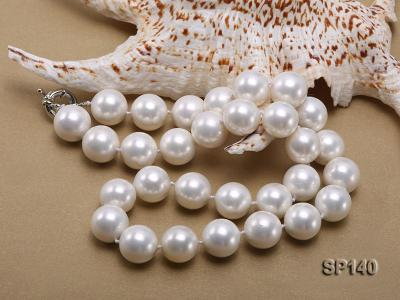16mm white round seashell pearl necklace SP140 Image 4