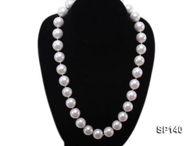 16mm white round seashell pearl necklace SP140 Image 5