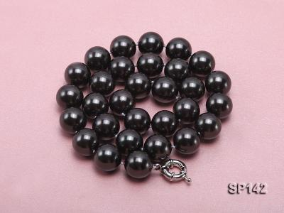 16mm black round seashell pearl necklace SP142 Image 3