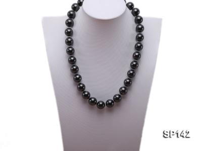 16mm black round seashell pearl necklace SP142 Image 5