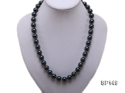 12mm black round seashell pearl necklace SP149 Image 5