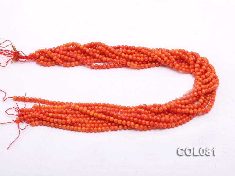Wholesale 4.5mm Round Red Coral Beads Loose String big Image 3