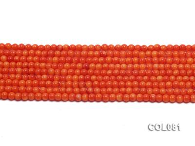 Wholesale 4.5mm Round Red Coral Beads Loose String COL081 Image 2