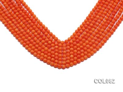 Wholesale 5.5mm Round Red Coral Beads Loose String COL082 Image 1