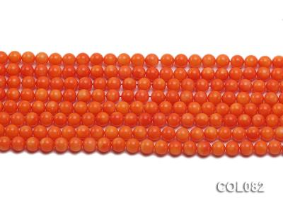 Wholesale 5.5mm Round Red Coral Beads Loose String COL082 Image 2