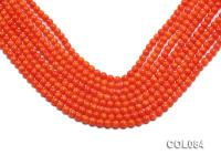 Wholesale 6mm Round Orange Coral Beads Loose String COL084