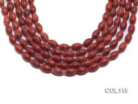 Wholesale 8x13mm Oval Red Sponge Coral Beads Loose String COL118