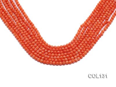 Wholesale 4-4.5mm Round Orange Coral Beads Loose String COL131 Image 1