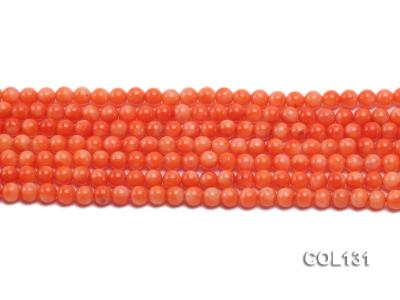 Wholesale 4-4.5mm Round Orange Coral Beads Loose String COL131 Image 2