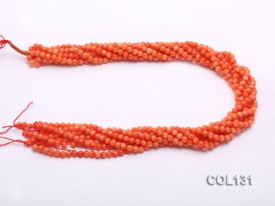 Wholesale 4-4.5mm Round Orange Coral Beads Loose String COL131 Image 3