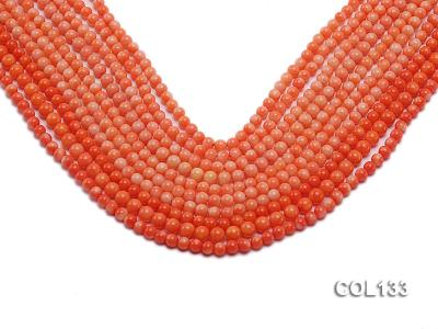 Wholesale 4.5-5mm Round Orange Coral Beads Loose String COL133 Image 1