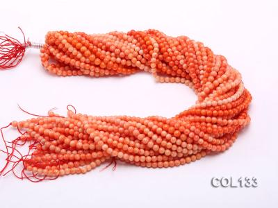 Wholesale 4.5-5mm Round Orange Coral Beads Loose String COL133 Image 3