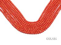 Wholesale 5-5.5mm Round Salmon Pink Coral Beads Loose String COL134
