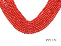 Wholesale 6-6.5mm Round Salmon Pink Coral Beads Loose String COL136