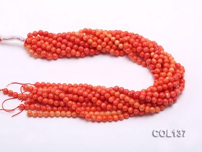 Wholesale 6.5-7mm Round Salmon Pink Coral Beads Loose String COL137 Image 3