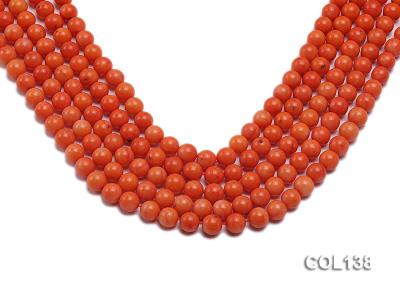 Wholesale 8mm Round Salmon Pink Coral Beads Loose String COL138 Image 1