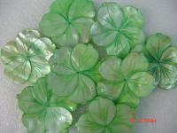 Wholesale 70mm Colored Carved Flower-shaped Seashell Pieces CF058