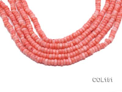 Wholesale 6-7mm Flat Pink Sponge Coral Beads Loose String COL151 Image 1
